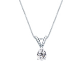 14k White Gold V-End Prong Certified Pear-Cut Diamond Solitaire Pendant 0.25 ct. tw. (G-H, SI1)