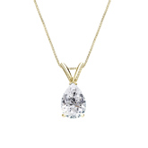 18k Yellow Gold V-End Prong Certified Pear-Cut Diamond Solitaire Pendant 0.75 ct. tw. (I-J, I1-I2)