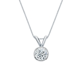 14k White Gold Bezel Certified Round-Cut Diamond Solitaire Pendant 0.38 ct. tw. (G-H, VS2)