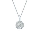 18k White Gold Certified Round-Cut Diamond Halo Pendant 0.38 ct. tw. (I-J, I1-I2)