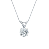 14k White Gold 4-Prong Basket Certified Round-Cut Diamond Solitaire Pendant 0.63 ct. tw. (G-H, SI1)