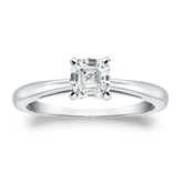 Certified Platinum 4-Prong Asscher Diamond Solitaire Ring 0.75 ct. tw. (H-I, SI1-SI2)