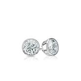Certified Platinum Bezel Round Diamond Stud Earrings 0.25 ct. tw. (I-J, I1-I2)