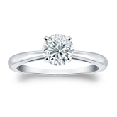 Certified 14k White Gold 4-Prong Round Diamond Solitaire Ring 0.75 ct. tw. (I-J, I1-I2)