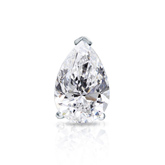 Certified 18k White Gold V-End Prong Pear Shape Diamond Single Stud Earring 1.50 ct. tw. (G-H, VS1-VS2)